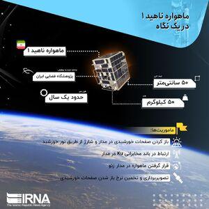 """اینفوگرافیک/ ماهواره """"ناهید ۱"""" در یک نگاه"""