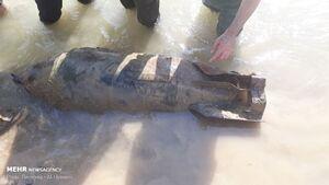 کشف بمب به جا مانده از جنگ تحمیلی در پلدختر