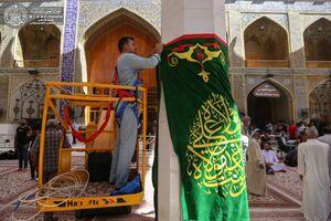 عکس/ آذین بندی حرم علوی در آستانه عیدغدیر