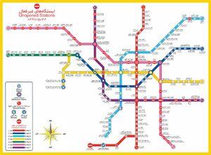 عکس/ نقشه جدید مترو تهران