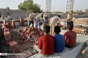 عکس/ ساخت واحد مسکونی توسط گروه جهادی