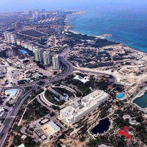 تصویر هوایی زیبا از جزیره کیش