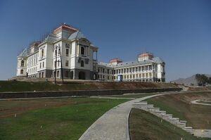 عکس/ بازسازی یک کاخ تاریخی در افغانستان