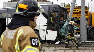 حادثه برای اتوبوس توریستهای چینی در مسکو