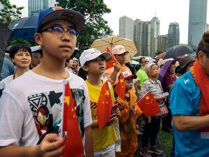 تظاهرات هزاران نفر در حمایت از پلیس هنگ کنگ