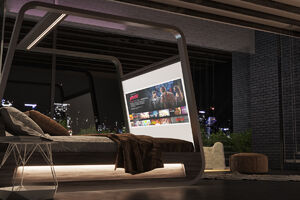 عکس/ تختخوابی برای معتادان به تلویزیون