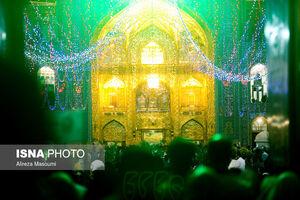 عکس/ حال و هوای حرم رضوی در شب عید غدیرخم