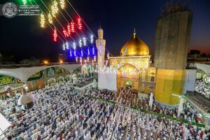 عکس/ حالوهوای حرم علوی در شب عید غدیر