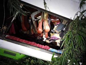 عکس/ کشته شدن ۱۳ گردشگر چینی در تصادف جادهای