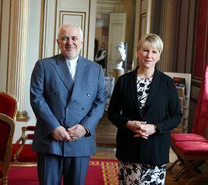 عکس/ دیدار ظریف با وزیر امورخارجه سوئد