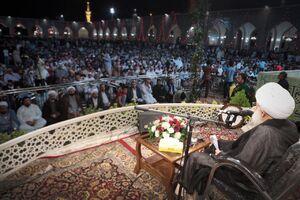 عکس/ نخستین سخنرانی رهبر شیعیان بحرین در ایران