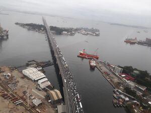 عکس/ ترافیک سنگین در محل گروگانگیری برزیل
