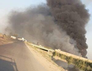 آتشسوزی در بزرگترین پایگاه هوایی عراق