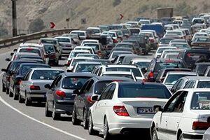 ترافیکی سنگین برای خروج از محورهای شمال