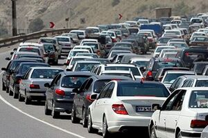 ترافیک پرحجم در محورهای شمالی کشور - کراپشده