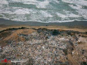 عکس/ دریای زبالهها در سواحل خزر!