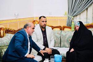 حضور اعضای کنسولگری ایران در منزل زن عراقی