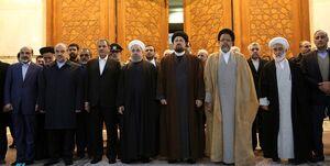 تجدید میثاق رییس جمهور و اعضای هیات دولت با آرمانهای بلند امام خمینی(ره)