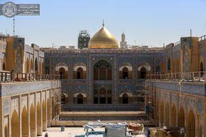 عکس/ مراحل پایانی پروژه احداث صحن حضرت زهرا(س)