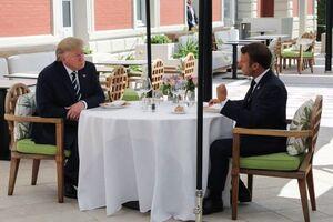 عکس/ دیدار ماکرون و ترامپ