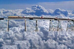فیلم/ سفری ترسناک با قطار ابرها