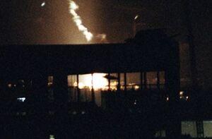 فیلم/ سقوط و انفجار پهپاد اسرائیلی در جنوب بیروت