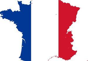 نقشه فرانسه پرچم فرانسه