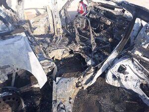 عکس/ حمله یک پهپاد ناشناس به خودروهای حشدالشعبی