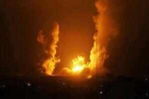 فیلم/ بمباران نوار غزه توسط صهیونیستها