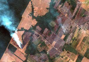 تصاویر ماهوارهای از آتش سوزی جنگلهای آمازون