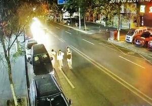 فیلم/ عاقبت پیادهروی وسط خیابان!