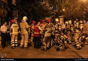 عکس/ مانور اطفای حریق در بازار تهران
