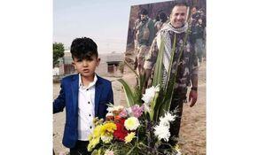 یتیم عراقی غم شهادت پدر را تاب نیاورد و به پدرش پیوست +عکس