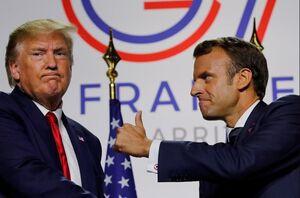 ترامپ ماکرون نمایه g7  گروه هفت