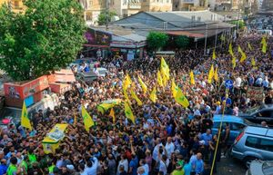 تشییع باشکوه پیکر شهيد حزب الله در بیروت