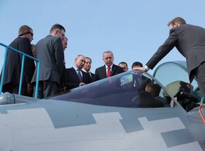 عکس/ حضور اردوغان و پوتین در نمایشگاه هوایی روسیه