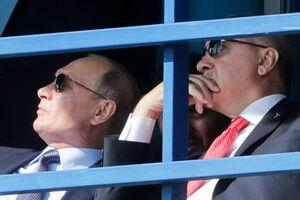 حضور اردوغان و پوتین در نمایشگاه هوایی روسیه