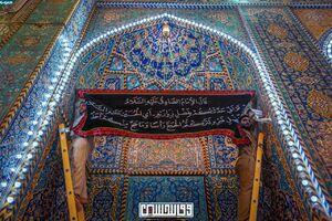 عکس/ حرم امام حسین(ع) سیاه پوش شد