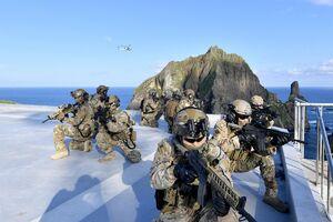 بحران در روابط متحدین امریکا در شرق آسیا/ مانور نظامی کره جنوبی در جزایر مورد مناقشه خشم ژاپن را برانگیخت +تصاویر