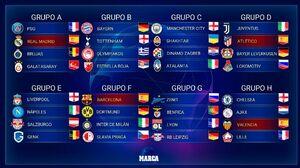 برنامه کامل مرحله گروهی لیگ قهرمانان اروپا