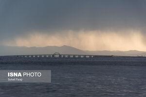 عکس/ طوفانهای نمکی دریاچه ارومیه