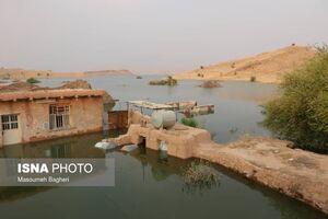 به زیر آب رفتن دو روستا بعد از آبگیری سد