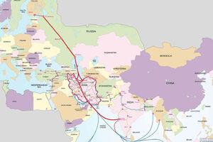ایران در مهمترین مسیر تجاری شمال-جنوب آسیا/ این مسیر چرا و چگونه از ایران میگذرد؟ + نقشه