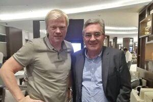 عکس/ دیدار برانکو با اسطوره فوتبال آلمان