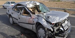 عکس/ مرگ راننده پژو بر اثر تصادف با تریلی