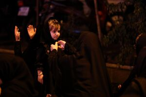 عکس/ عزاداری شب سوم محرم؛ مسجد امیر