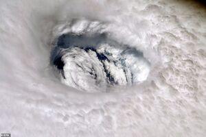تصویر ماهوارهای از طوفان هولناک در باهاما آمریکا