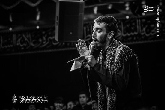 فیلم/ مداحی زیبای مهدی رسولی در ریحانه الحسین(ع)