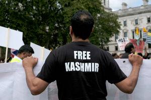 تظاهرات همبستگی با مردم کشمیر در لندن