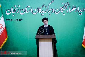 عکس/ دیدار حجت الاسلام رئیسی با علما و نخبگان زنجان